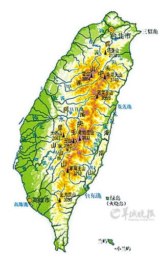 台湾地图供图:全景